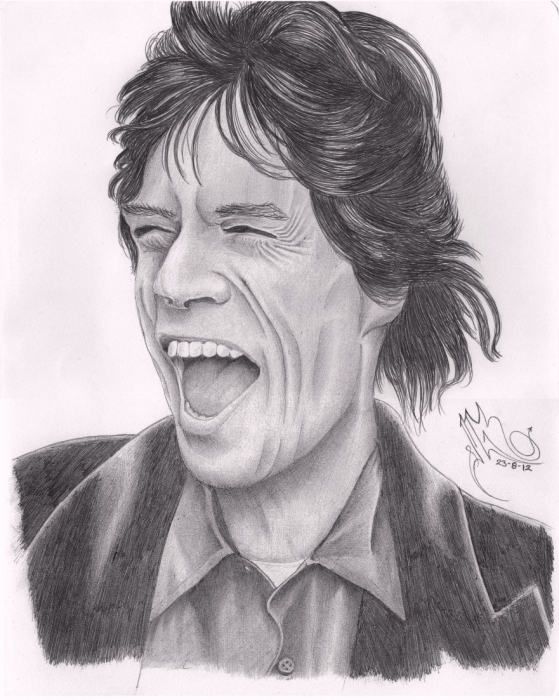 Portrait Of Mick Jagger By Jmgr Warrior On Stars Portraits